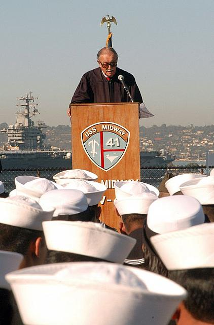 San Diego (Nov. 8 2006) - U.S. District Court Judge, Honorable John S. Rhoades delivers a speech before giving the oath of citiz
